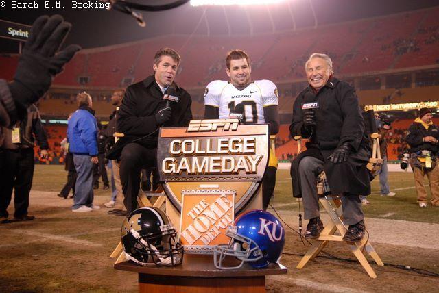 Chris Fowler, Chase Daniel, and Lee Corso