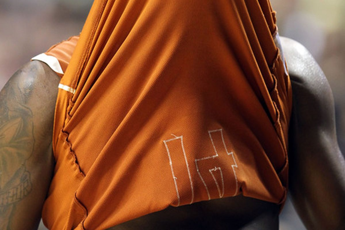 Texas fans hope this isn't the last view of J'Covan Brown in a Longhorn uniform.  (Photo by Jamie Squire/Getty Images)