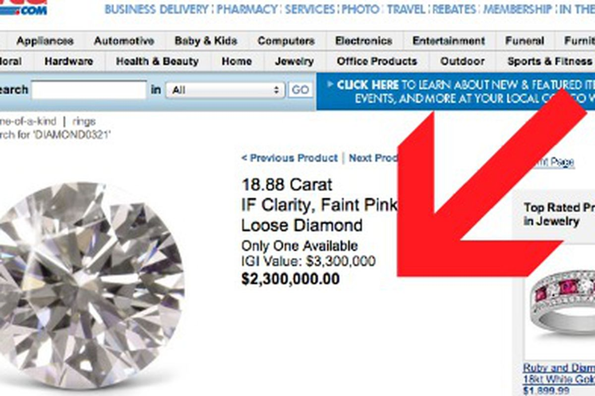Costco Still Selling Really Expensive Diamonds, Here\'s One for $2.3 ...