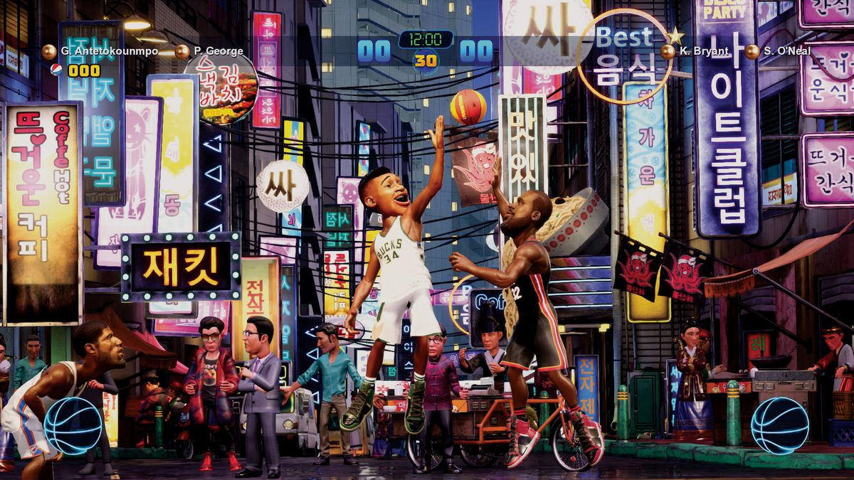 NBA 2K Playgrounds 2 - Giannis Antetokounmpo and Paul George vs. Kobe Bryant and Shaquille O'Neal in Korea