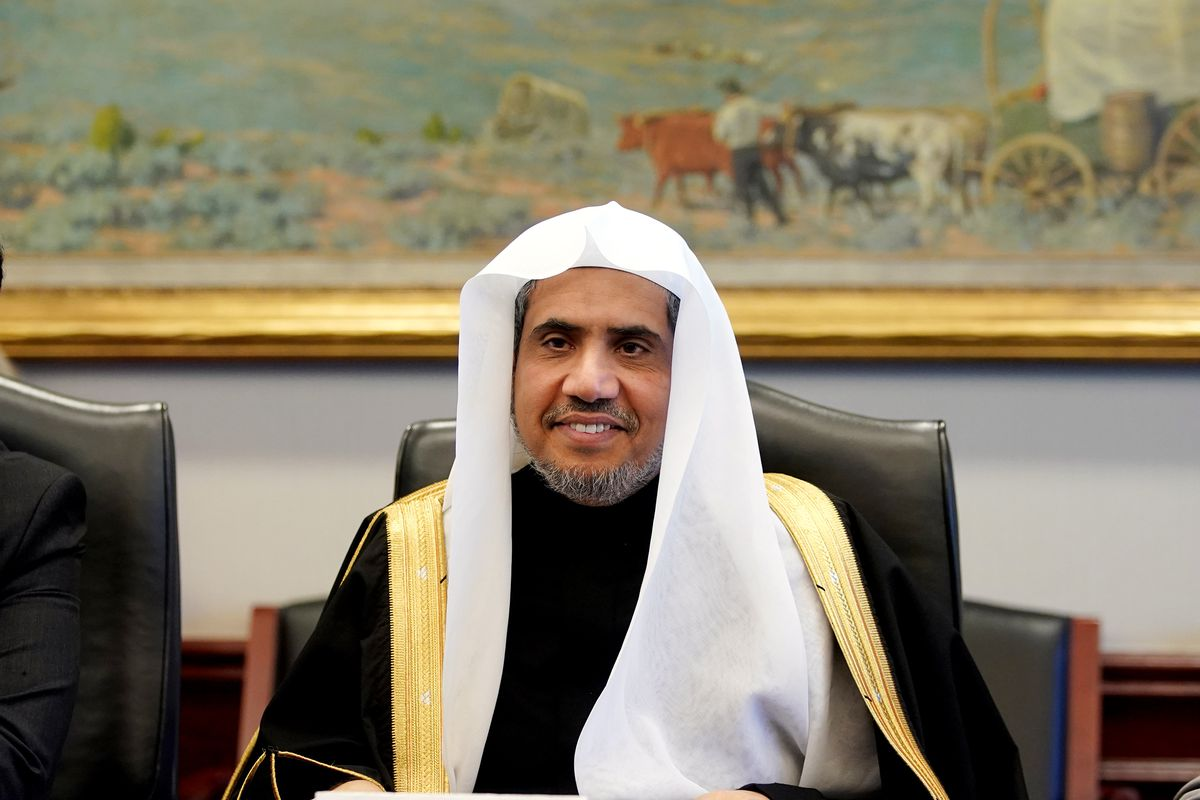 Dr. Mohammad Al-Issa, secretary-general of the World Muslim League, takes his seat at a Deseret News editorial board meeting at the Triad Center in Salt Lake City on Monday, Nov. 4, 2019.
