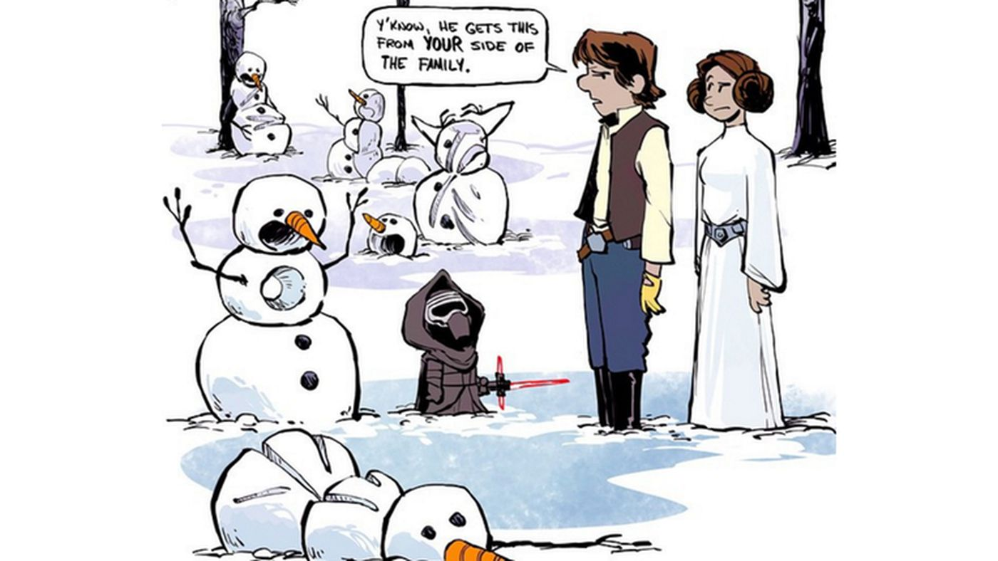 The Force Awakens meets Calvin and Hobbes, hearts melt - The Verge