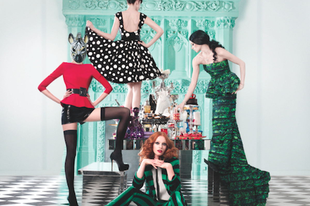 A shot from Alice + Olivia's latest campaign