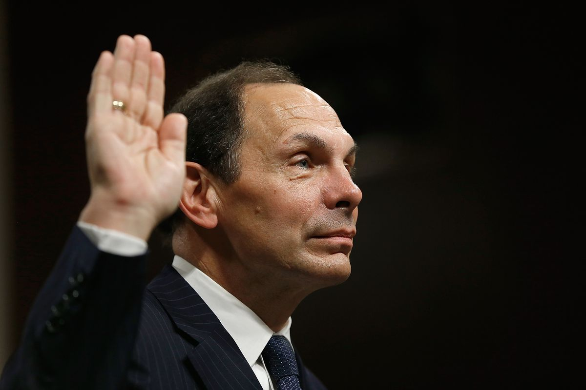 Former Procter & Gamble CEO Bob McDonald prepares to testify in front of Congress.