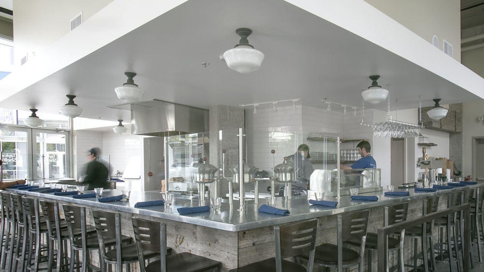 Inside Taylor Shellfish S Oyster Bar Near The Space Needle