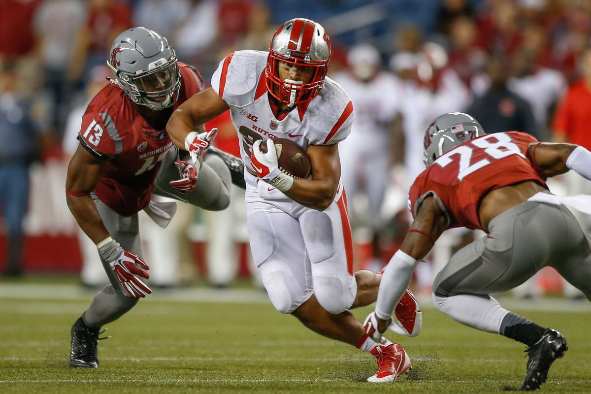 One of several missed tackle in the WSU loss to Rutgers.