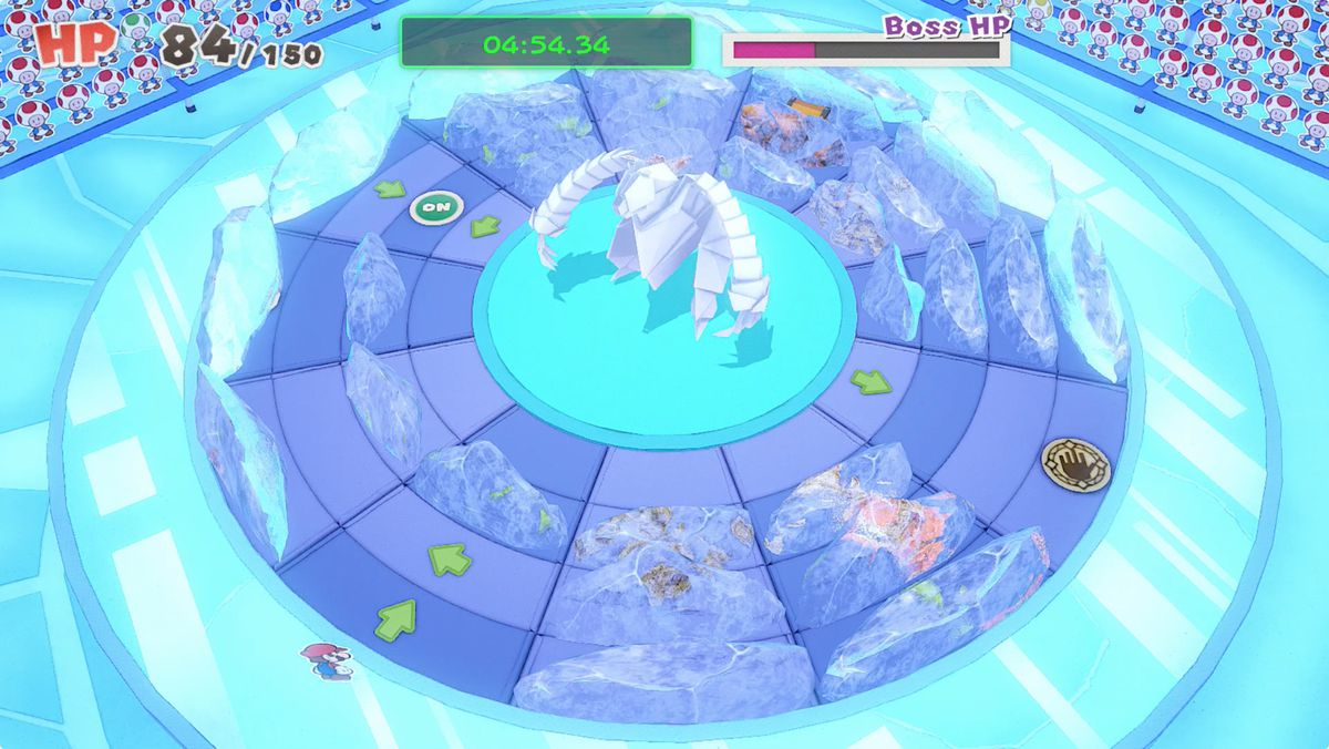 Paper Mario: The Origami King Ice Vellumental boss fight guide