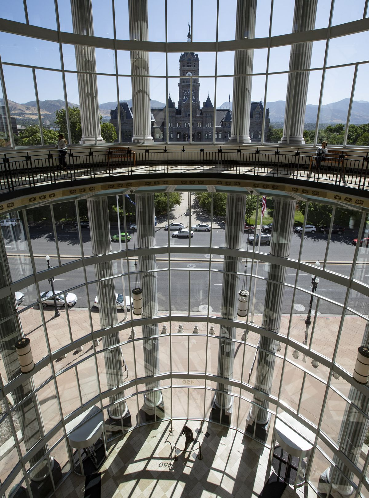 The Salt Lake City and County Building photographed from inside the Matheson Courthouse on Monday, Aug. 12, 2019.