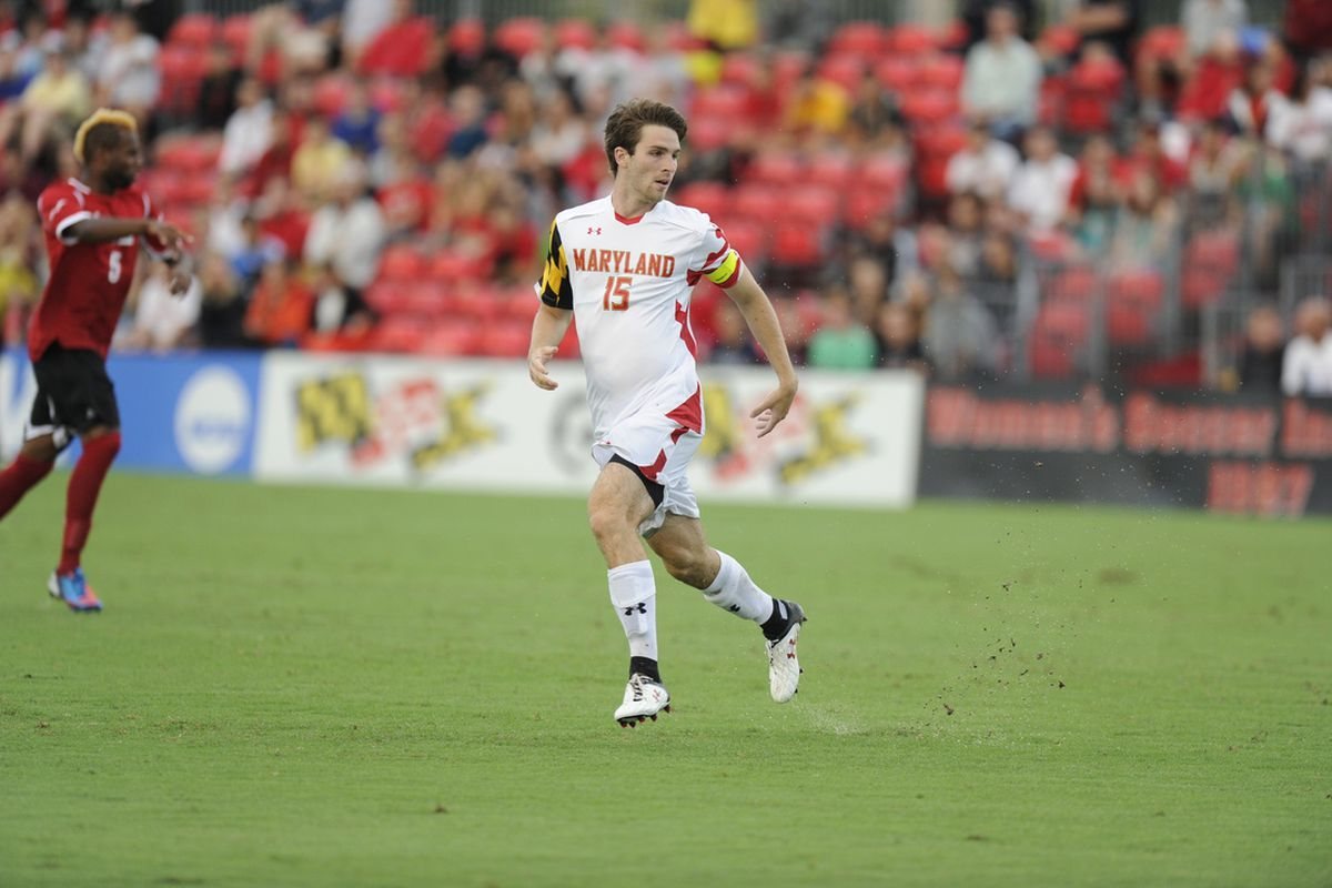 Patrick Mullins in action for Maryland