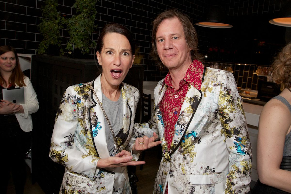Silly gooses Cynthia and Gary are wearing the same jacket at the same party!