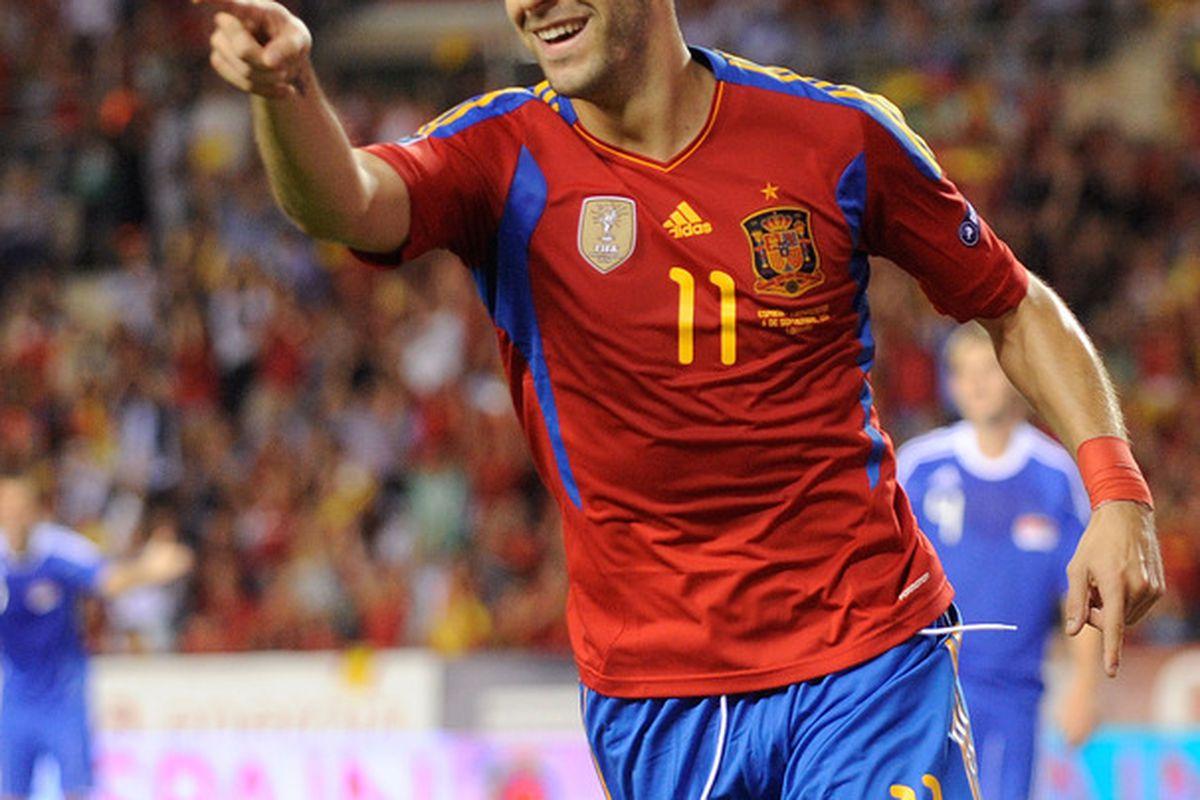 Big chance for a big man: Álvaro Negredo.