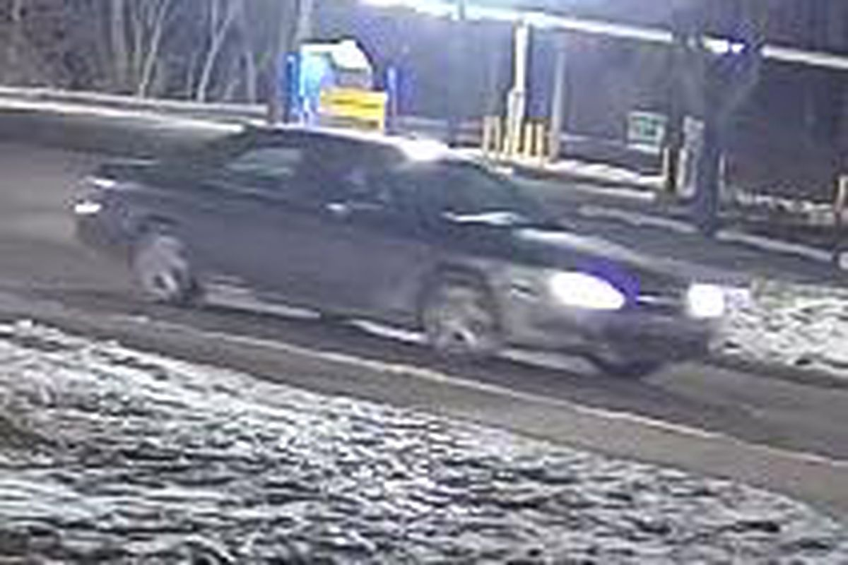 Police are looking for a car that drove through Festival Park and damaged a memorial Feb. 29, 2020, in Hobart, Indiana.