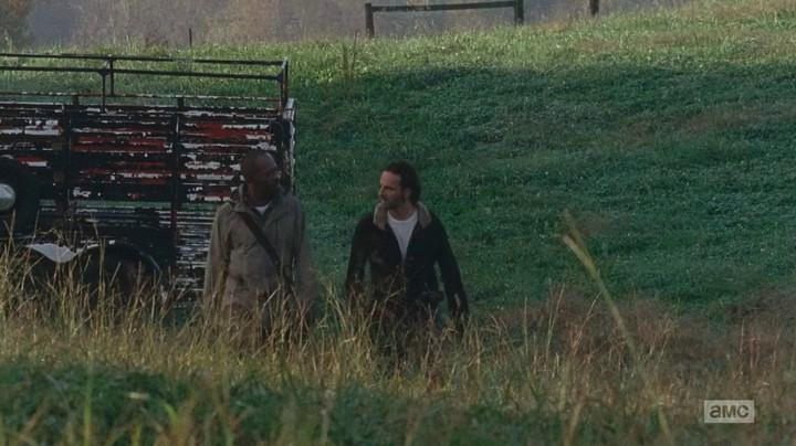 Rick and Morgan look for Carol.