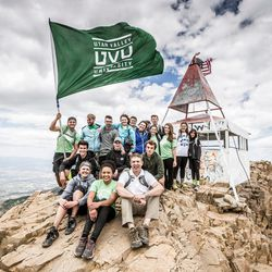 Utah Valley University students join President Matthew S. Holland on the third annual UVU Presidential Timpanogos Hike on Monday July 18, 2016.