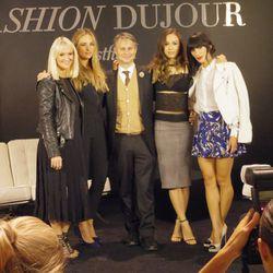 Panel moderator/<i>Marie Claire</i> senior fashion editor Zanna Roberts Rassi, celeb stylist Jeanann Williams, <i>DuJour</i> magazine CEO Jason Binns, blogger Rumi Neely and blogger Athena Calderone.