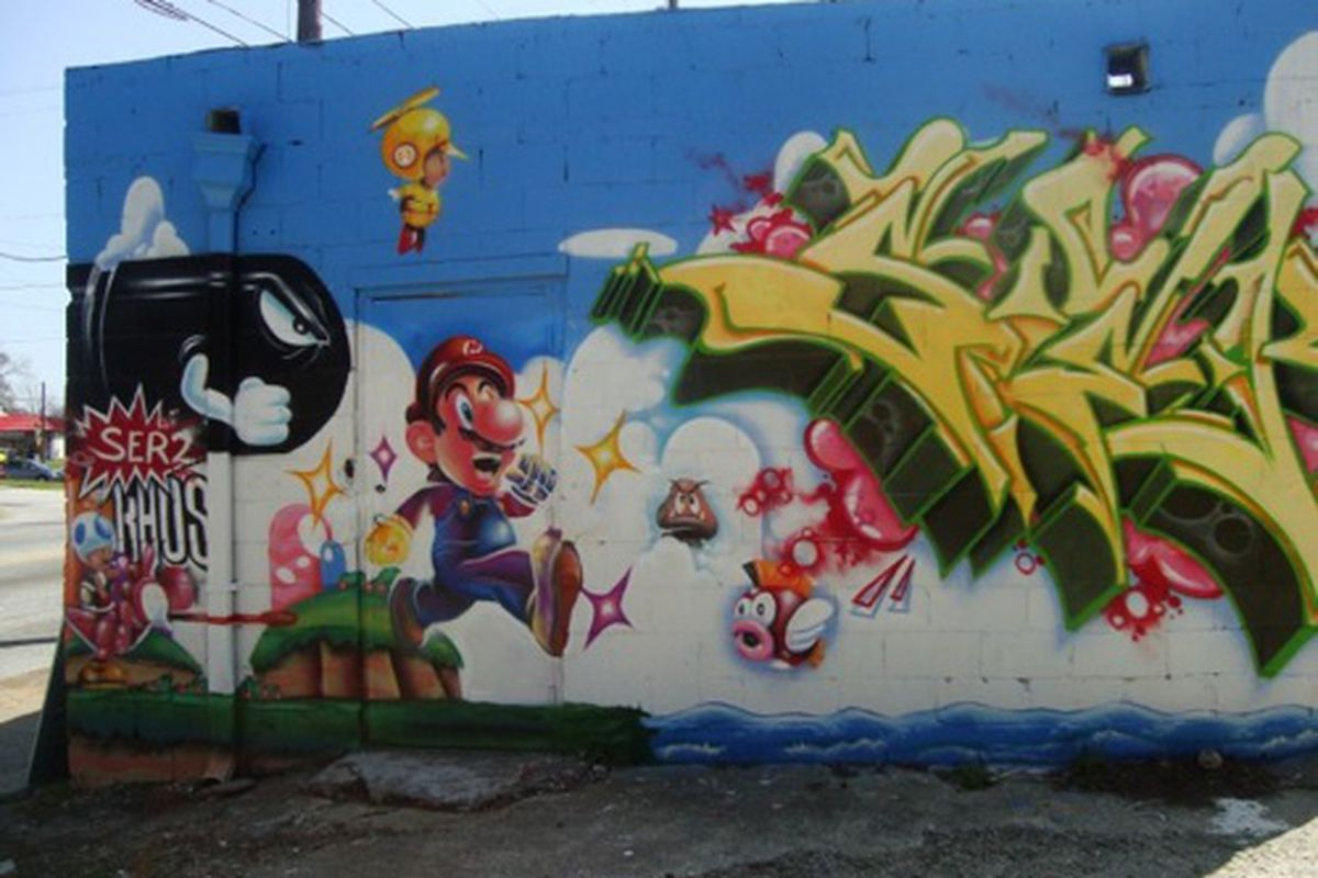 The back wall at Nick's Food To Go.
