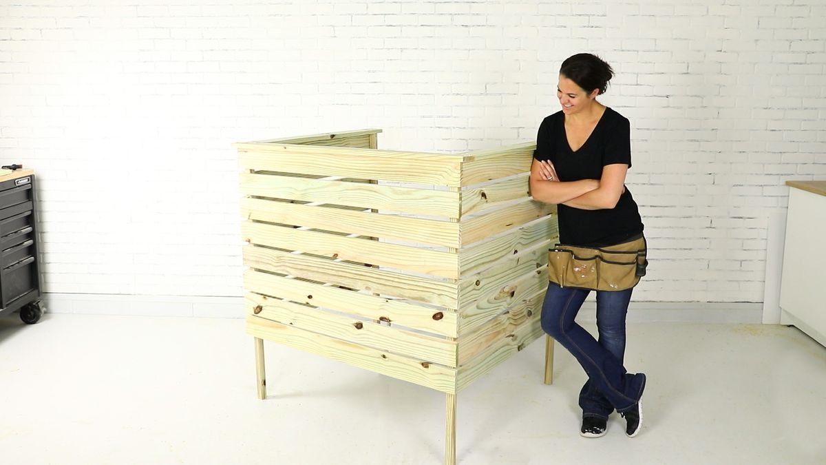 Build a wooden cover for an outdoor Air Conditioner