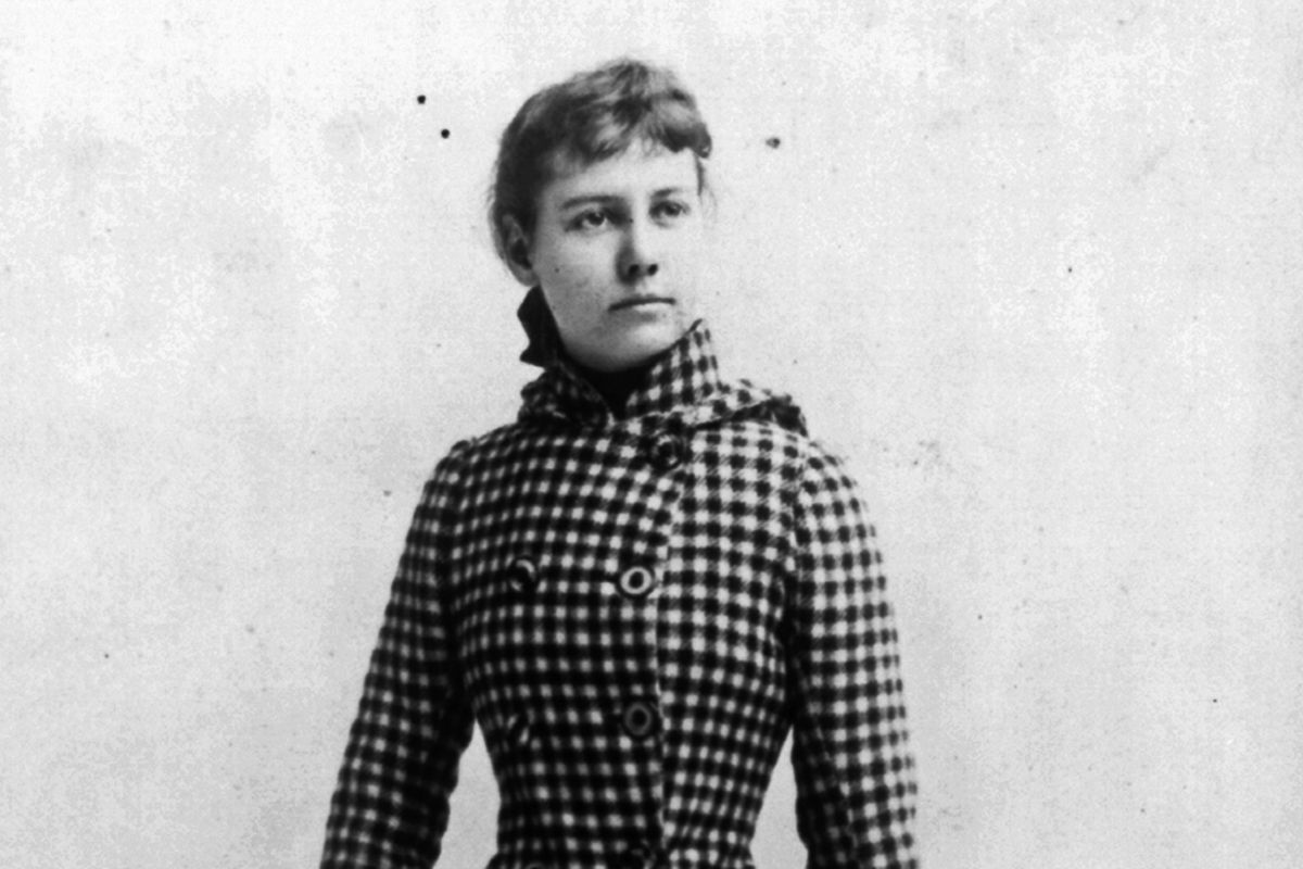 Nellie Bly, ready to travel the world.