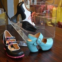 """<a href=""""http://www.fluevog.com/"""">John Fluevog</a> may be a franchise shoe store but hear me out! You should stop in this Wicker Park boutique for its collection of eco-friendly leather and handmade shoes from Canadian designer John Fluevog. Expect to she"""