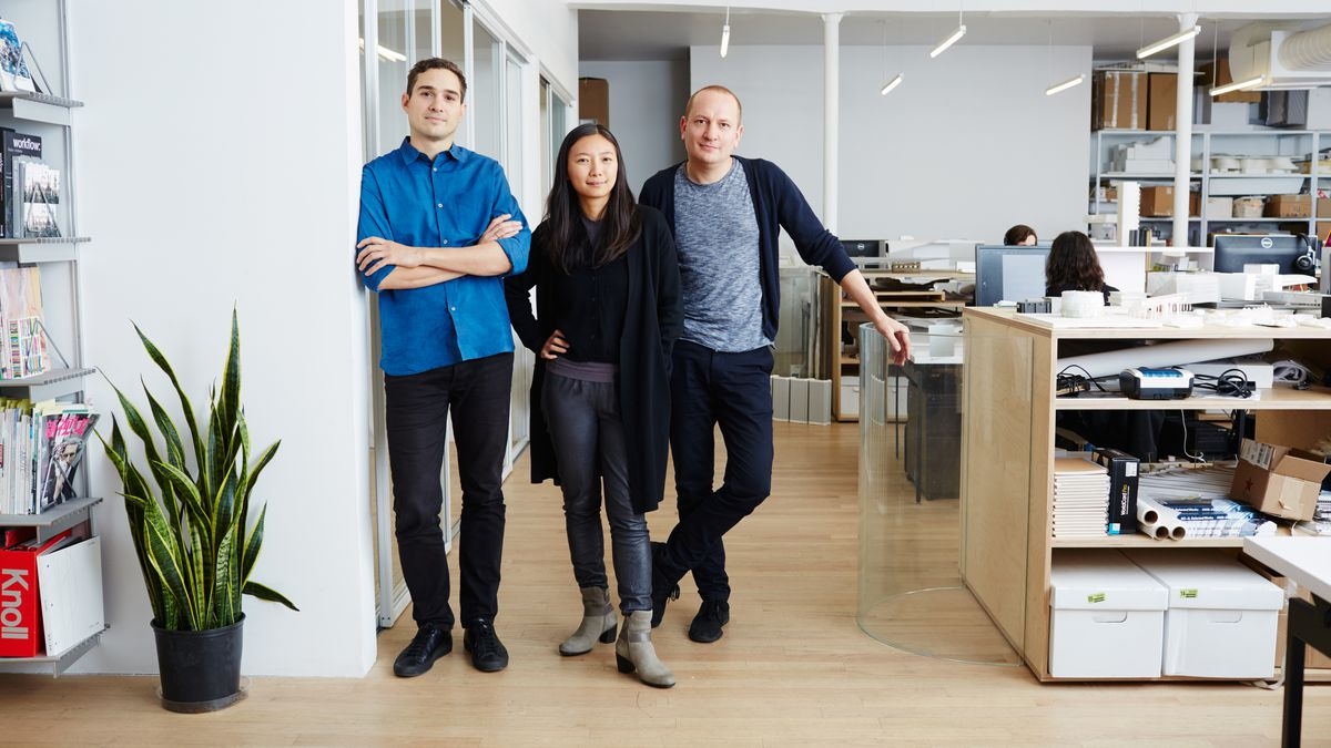 The three partners of SO-IL in their Brooklyn office.