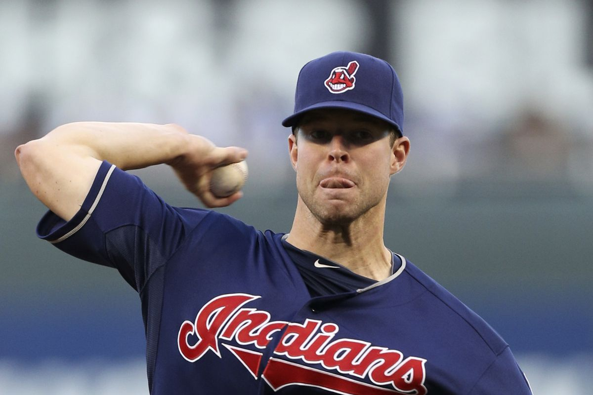 Corey Kluber, as not seen in the Cleveland market.