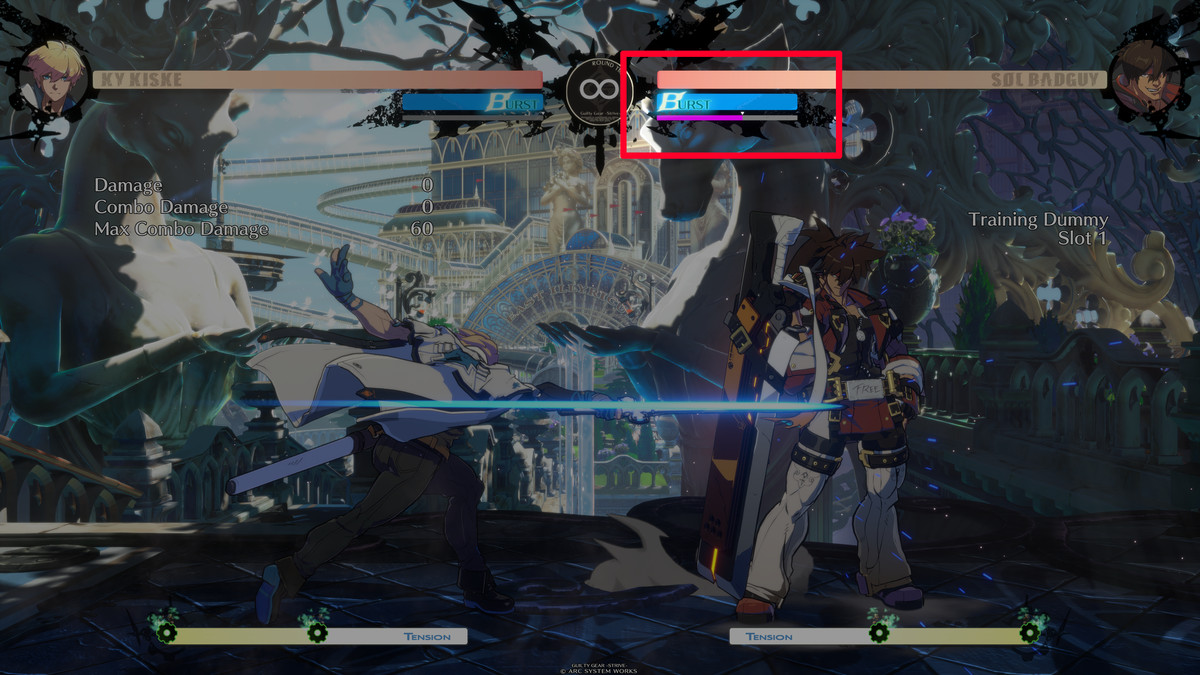 The RISC Level meter in Guilty Gear Strive