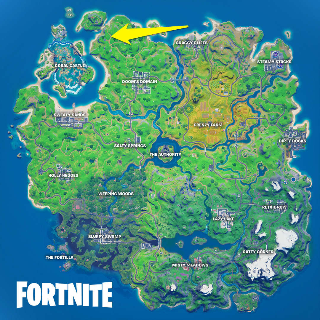 The location of Wolverine's Trask Transport Truck in Fortnite