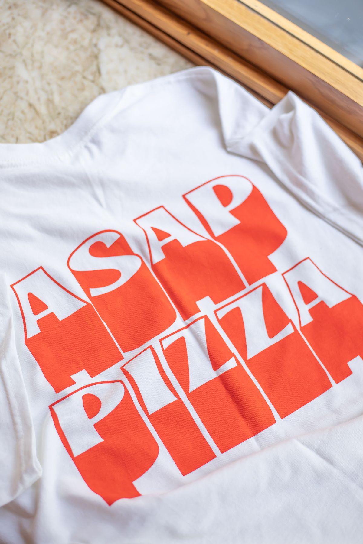 A pizza t-shirt from ASAP Pizza