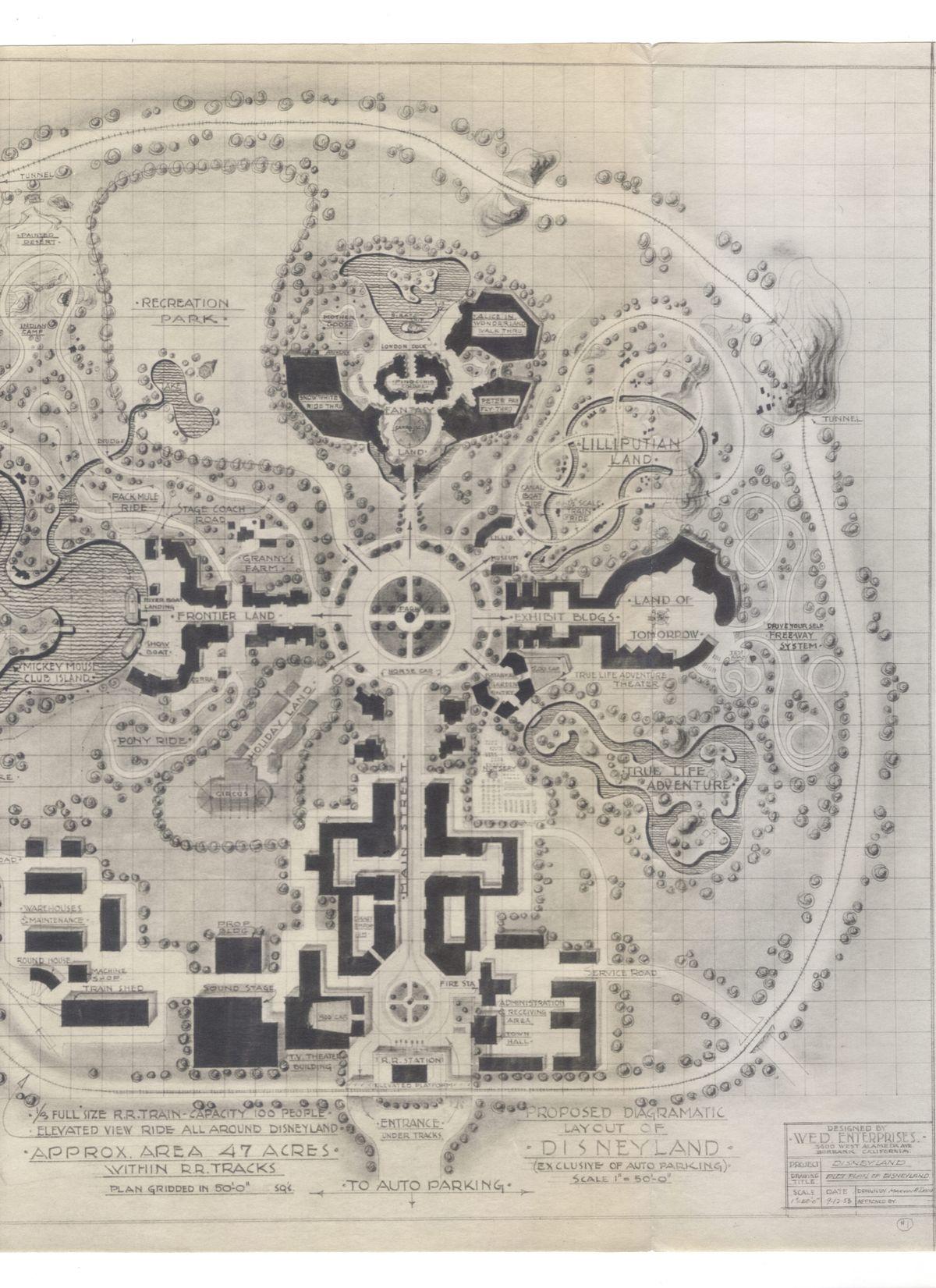 Disneyland prospectus map