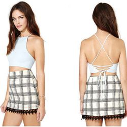 """<b>After Party</b> Vintage Bianca Crop Top, <a href=""""http://www.nastygal.com/clothes-tops-cropped/after-party-vintage-bianca-crop-top"""">$42</a> at Nasty Gal"""