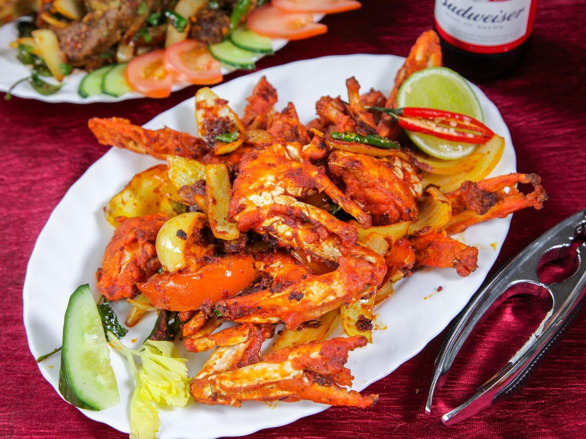 Keralan crab fry at Udaya Kerala in East Ham