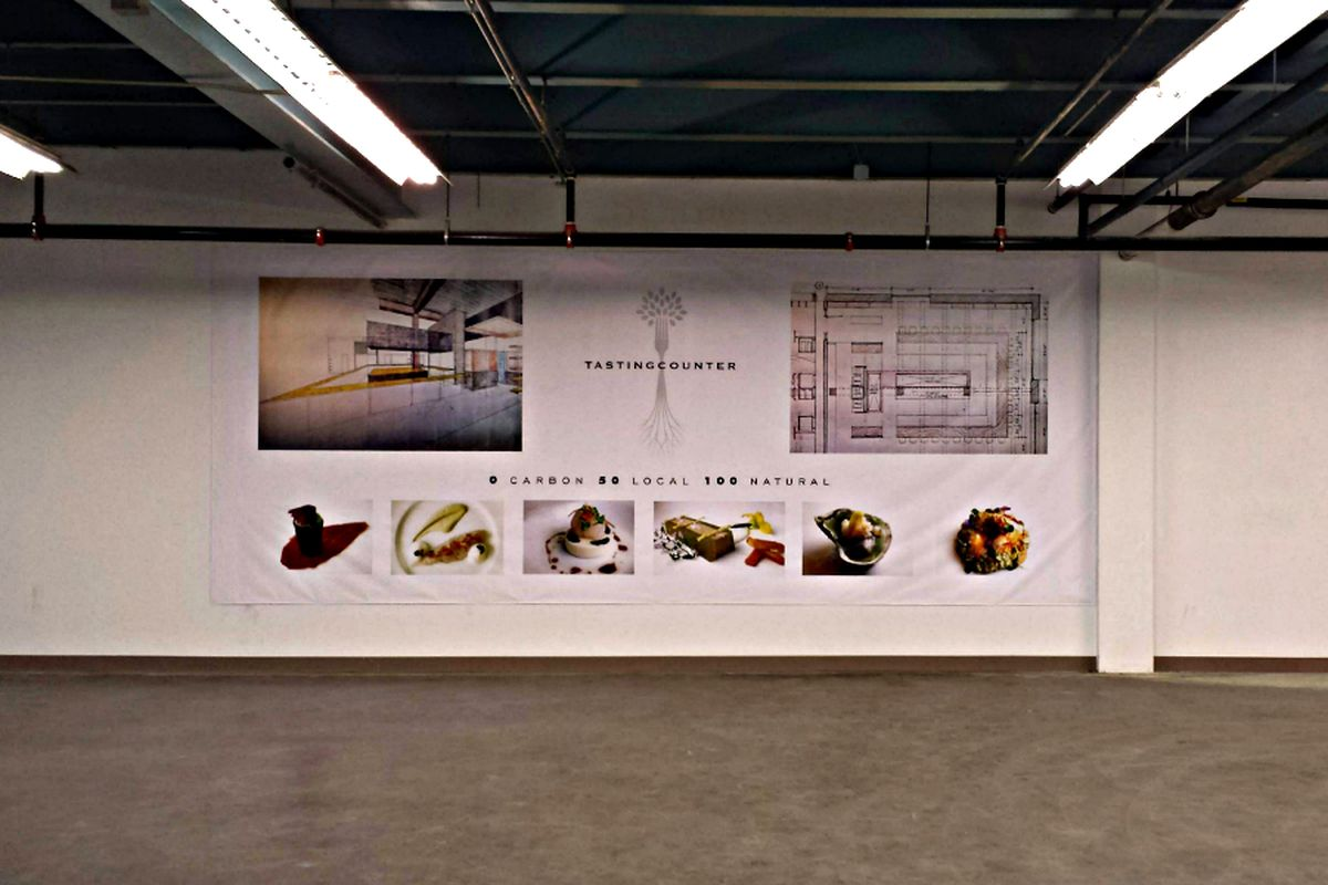 The Tasting Counter banner at Aeronaut Brewing Company, shown last year