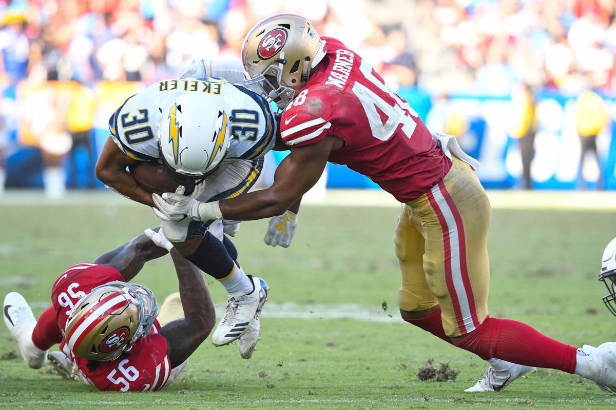 09ce5d0e5 49ers film breakdown: Reuben Foster, Fred Warner are learning on the ...