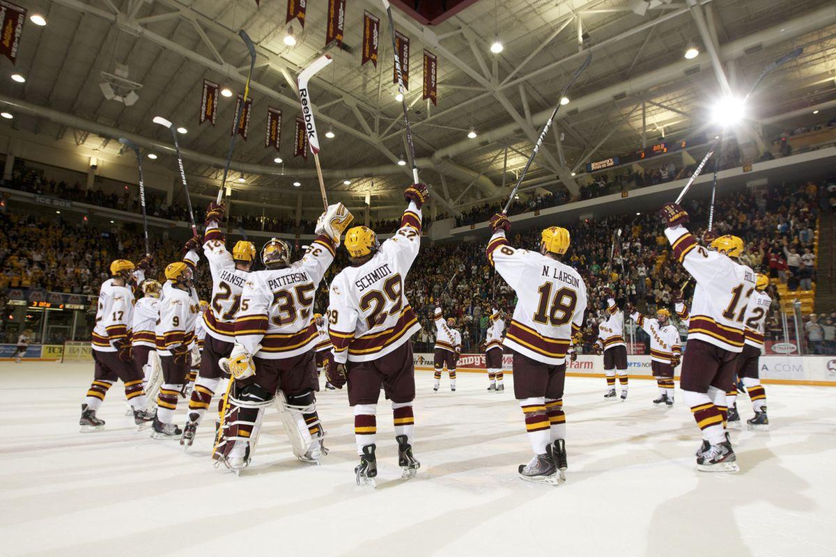 Minnesota celebrating a sweep