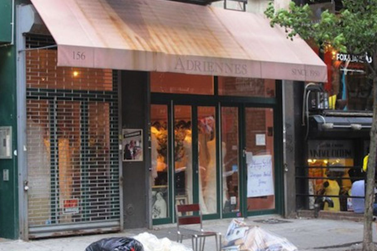 """Image via <a href=""""http://www.boweryboogie.com/2012/09/adriennes-bridal-salon-moving-to-134-orchard/"""">Bowery Boogie</a>"""