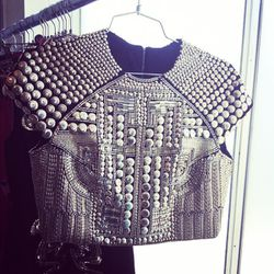 This badass crop top by Holly Fulton is the heaviest garment you'll ever wear.