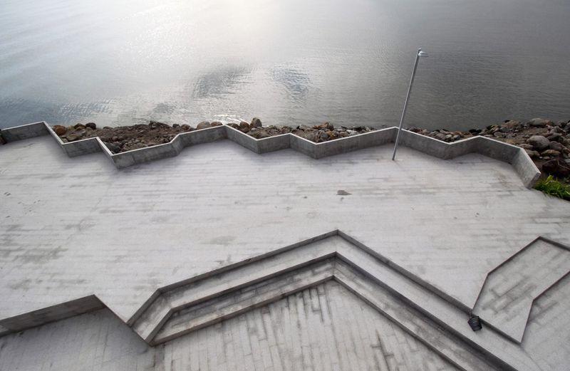. Concrete concert hall echoes rocky coastline in Mexico   Curbed