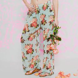 """<a href=""""http://www.betseyjohnson.com/product/index.jsp?productId=12546840"""">Rose pull on pant</a>, $78 (was $98)"""