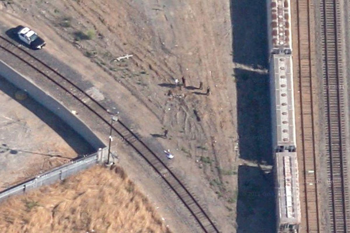 Google satellite photo of crime scene