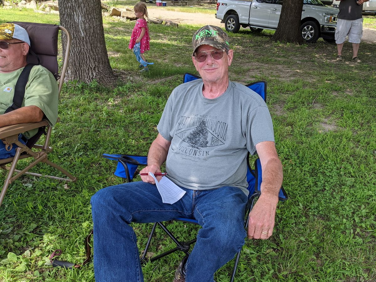 Danny Newell awaits the start of the waterfowl blind draw at Marshall State Fish and Wildlife Area. Credit: Dale Bowman