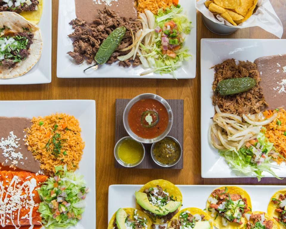 Dishes from El Taquito