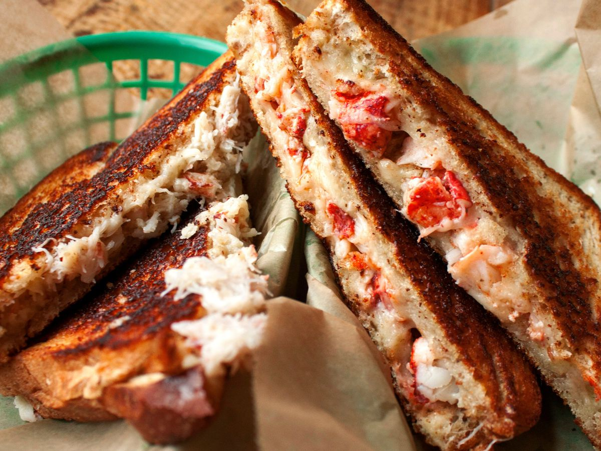Lobster grilled cheese at Luke's Lobster