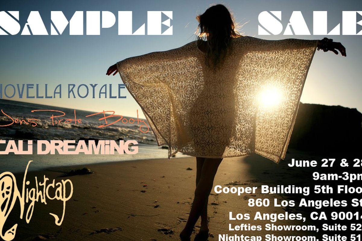 Flyer via Cali Dreaming Swimwear