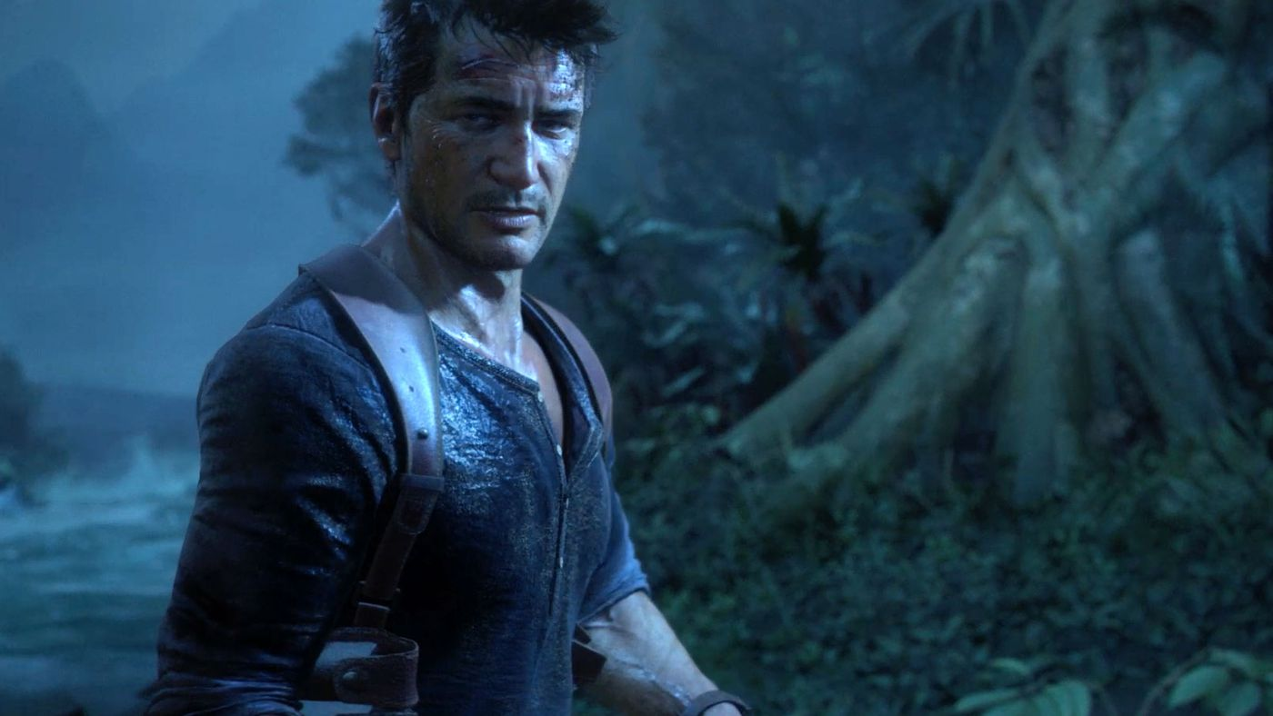 Uncharted 4 Concept Art Shows Drake Exploring Flooded Ruins