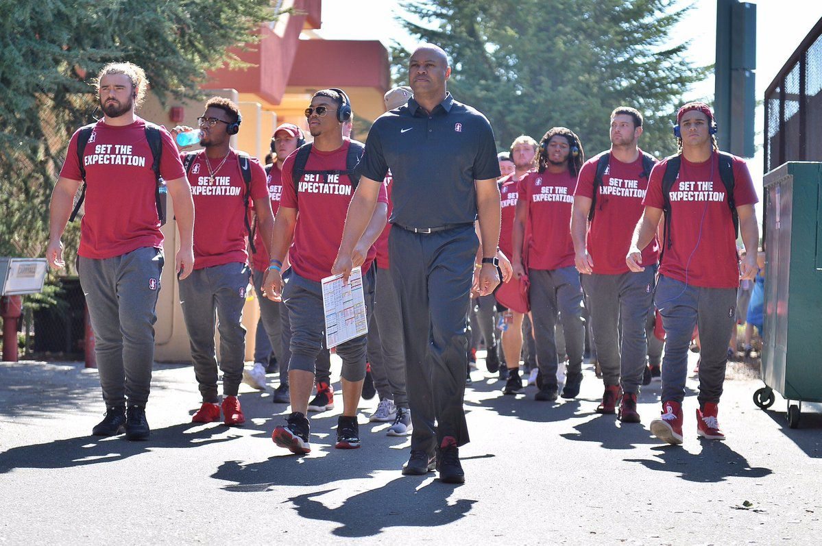 Stanford football players