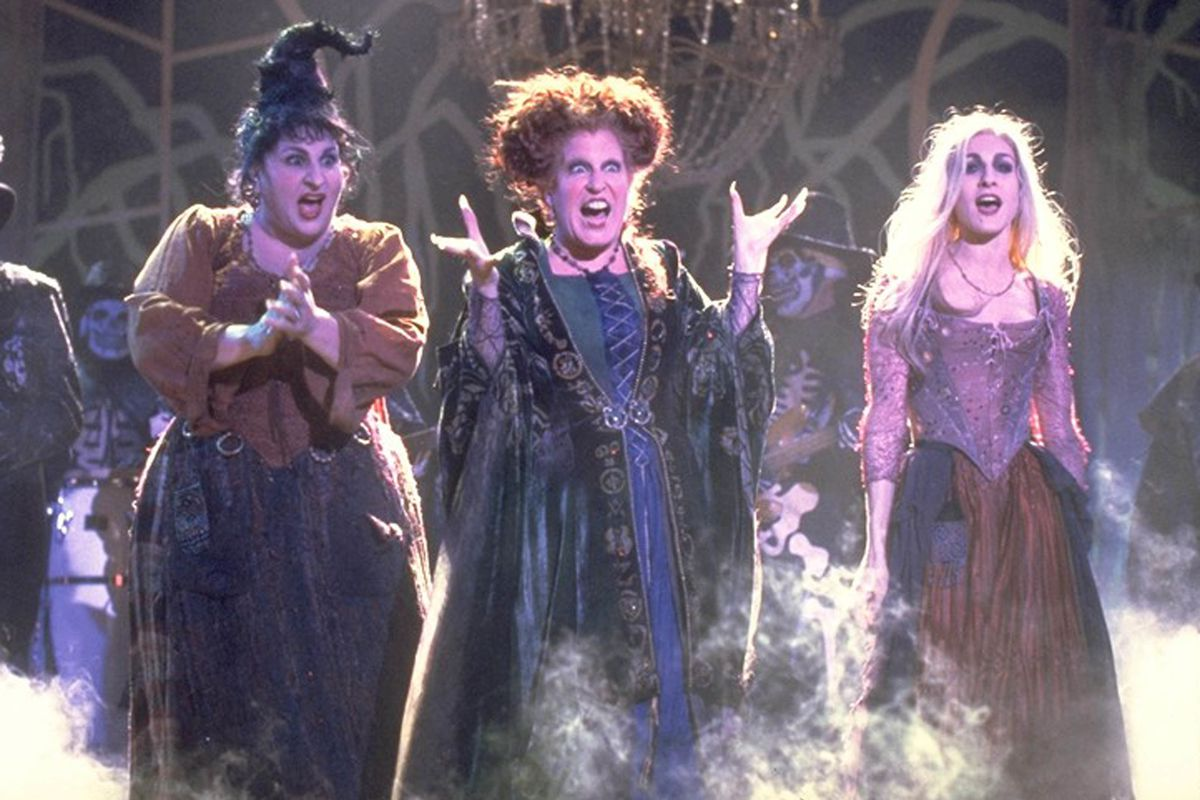 """Kathy Najimy, from left, Bette Midler and Sarah Jessica Parker star in a scene from the film """"Hocus Pocus."""""""