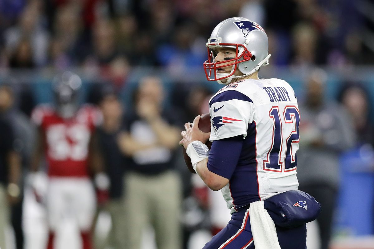 New England Patriots Quarterback Tom Brady Drops Back To Pass During Super Bowl Li Ronald Martinez Getty Images