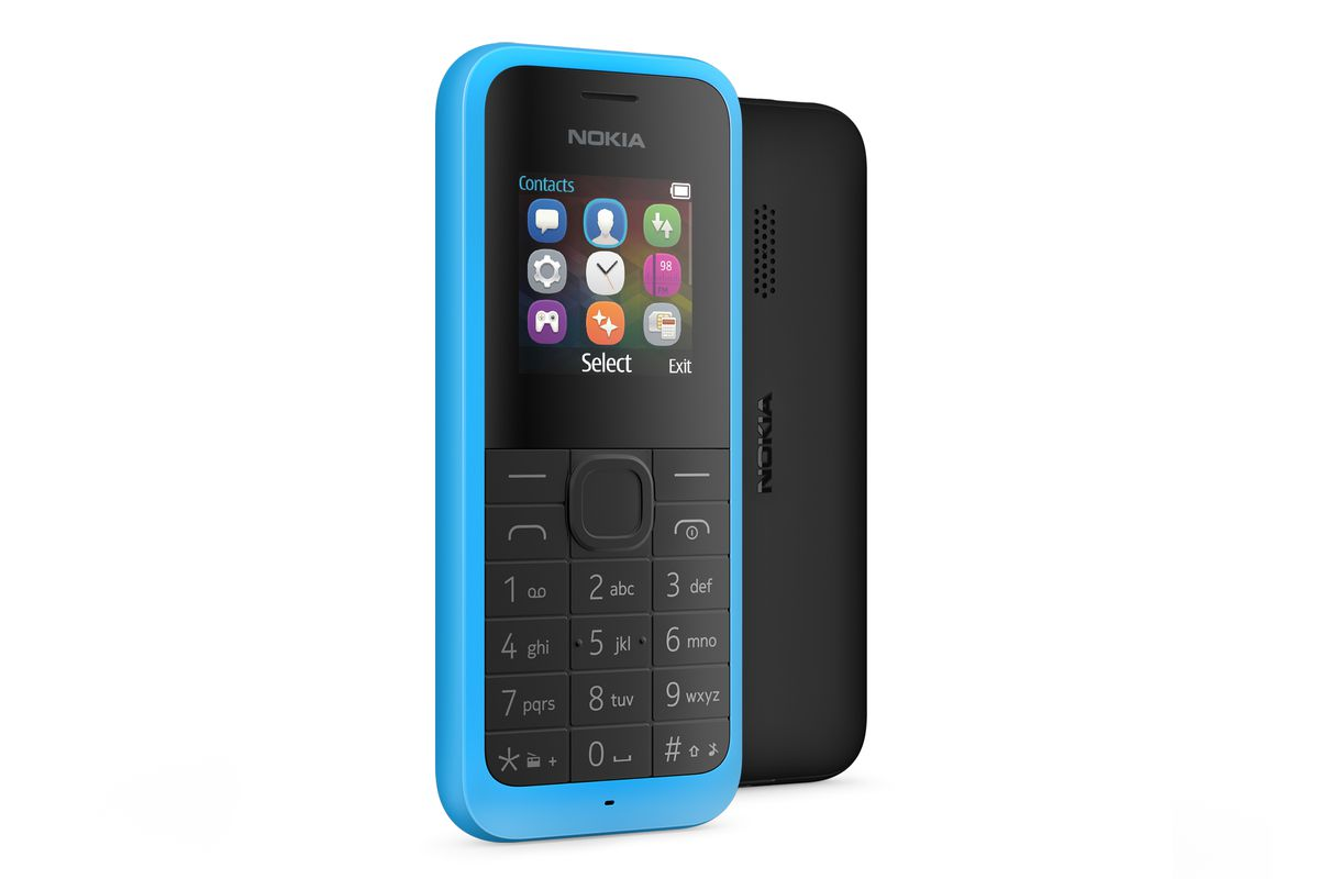 A low-end Nokia 105 smartphone