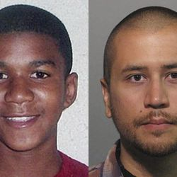This combo made from file photos shows Trayvon Martin, left, and George Zimmerman. George Zimmerman, 28, the neighborhood watch volunteer who shot 17-year-old Trayvon Martin, was arrested and charged with second-degree murder Wednesday after weeks of mounting tensions and protests across the country. His attorney, Mark O'Mara, said his client would plead not guilty. (AP Photo)
