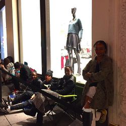 <b>There's a generation gap in overnight lines</b><br> When I scanned the Alexander Wang X H&M line at 7:15 on Wednesday evening, the 24 assembled shoppers appeared to have one thing in common: they all looked to be under 25. By morning, the post-college